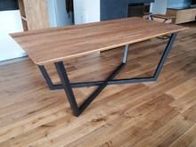 Stół EVEREST - blat dębowy 4 cm