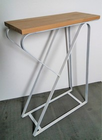 Stolik pomocnik LULEA - blat dębowy 4 cm