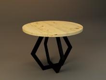 Stół okrągły NORD - blat dębowy 2 cm