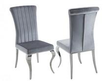 Krzesło welurowe FT25C - szary