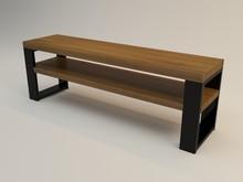 STOLIK RTV HAPARAND DUO  Nowoczesny stolik RTV w prostej i ażurowej formie idealny do nowoczesnego wnętrza. Blaty drewniane wykonane z litego drewna z...