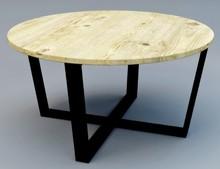 Stolik kawowy BODEN - blat dębowy 4 cm