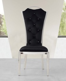 Krzesło Avalon  Krzesło wykonane w stylu glamour.  Materiał wykonania:  - stal nierdzewna polerowana, - tkanina velurowa ...
