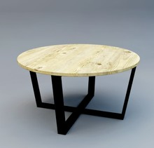 Stolik kawowy BODEN - blat sosnowy 4 cm