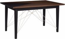 Nowoczesny stół z kolekcji 2B w kolorze orzecha amerykańskiego z charakterystycznym wcięciem na blacie do wyboru w trzech kolorach RAL (szary, czarny i...