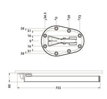 Nogi Noga 656 CLICK fi.50mm Składana wys.70cm CZARNA Regulacja +3cm - Camar