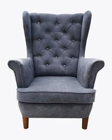 Fotel Uszak2  Fotel Uszak 2, pięknie wkomponuje się w Twoje wnętrze.  Prezentowany produkt ze zdjęcia zawiera:  Materiał:  Stelaż wykonany z...