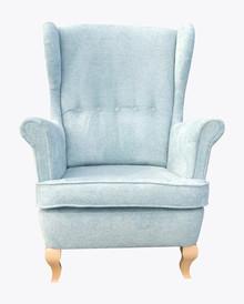 Fotel Uszak 1  Fotel Uszak 1, pięknie wkomponuje się w Twoje wnętrze.  Prezentowany produkt ze zdjęcia zawiera:  Materiał:  Stelaż wykonany z...