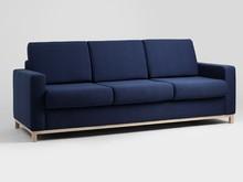 Sofa SCANDIC 3 os. rozkł. - atramentowy(et80), naturalny