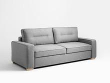 Sofa MEGGY 3 os. rozkł. - metaliczny(ox19), naturalny