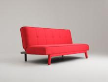 Sofa MODES 2 os. rozkł. - krwista czerwień(et60)