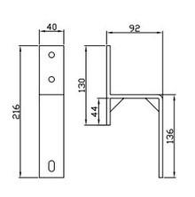 Prowadnice do drzwi Klamra Ścienna do Podwójnego systemu Design Line - Valcomp