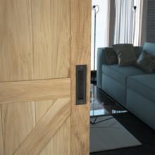 Prowadnice do drzwi Metalowy Uchwyt Wpuszczany  Do Drzwi Design Line Czarny Mat - Valcomp