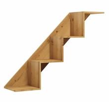Półka wisząca stairs 4 007 z kolekcji BASIC  Neutralne kolory oraz prosta ponadczasowa forma czynią zestaw Basic idealnym kompromisem dla młodszych,...