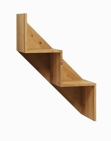 Półka wisząca stairs 2 008 z kolekcji BASIC  Neutralne kolory oraz prosta ponadczasowa forma czynią zestaw Basic idealnym kompromisem dla młodszych,...