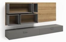 Zestaw open 040 z kolekcji GRAY  Modna kolorystyka nada Twojemu wnętrzu stylowego klimatu. Mebel świetnie sprawdzi się w małym pomieszczeniu. ...