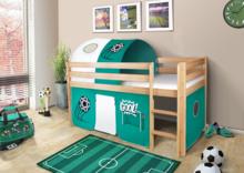 LUPO łóżko dziecięce.  Komplet LUPO zawiera: Konstrukcję drewnianą łóżka wraz z drabinką (do wyboru: naturalne drewno lub drewno bielone)...