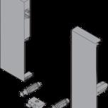Mocowania ZIF.74C0 frontu wewnętrznego szuflady TANDEMBOX ANTARO Wysokość C Służą do zamontowania stalowego frontu Z31L1036A z pojedynczym relingiem...