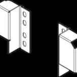 Uchwyt ZRR.5200 do montażu relingu podłużnego na dowolnej wysokości Przeznaczony do szuflad Tandembox Antaro. kolor: brunatnoczarny