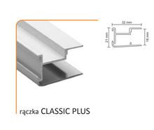 Rączka Classic Plus (Profil) do drzwi przesuwnych wykonanych z płyty o grubości 18 mm.  Linia Medium 56.  Kolor Biały Połysk. Długość 270 cm....