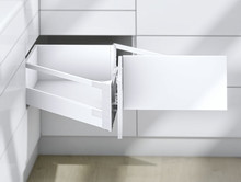 Szuflada Tandembox NAROŻNA Wys.D=198mm Dł.65cm 65kg SZARA - Blum
