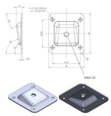 Łącznik Nogi Kąt 10 Stopni 66 X58 mm Ocynk Biały - Siso
