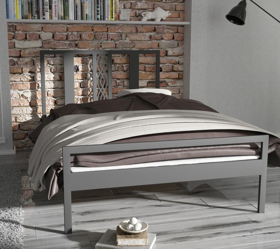Metalowe łóżko Sypialniane Ze Stelażem Paris