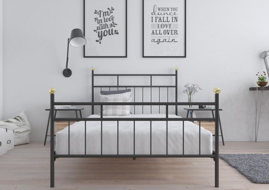 łóżko Metalowe Ze Stelażem Katalonia