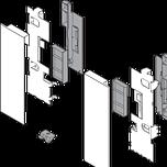 mocowanie frontu ZI7.2CS0 Typ uchwytu frontu: do szuflady wewnętrznej z elementami dekoracyjnymi System szuflad: LEGRABOX Warianty mocowania frontu: wys. C...