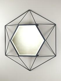 Lustro ścienne VIRAL ,wykonane z żelaza w kolorze antycznego grafitowego niklu,oraz fazowanego lustra.<br />Olbrzymi rozmiar 102x117x79 cm.,oraz...