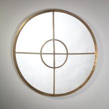 Lustro ścienne LATIF, o rozmiarze 92x92x3cm. wykonano z żelaza w kolorze starego mosiądzu i lustra. Okrągła i minimalistyczna forma powodują że lustro...