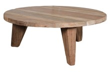 Stolik kawowy L z drewna tekowego