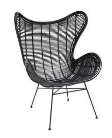 Fotel rattanowy EGG - czarny
