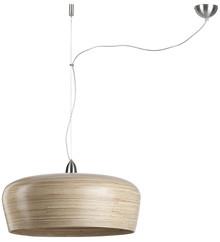 Lampa wisząca HANOI w kolorze naturalnym. Wykonana z prawdziwego, naturalnego bambusa. Zawieszana na niewidocznej, stalowej żyłce.Wymiary 60cm średnicy I...