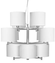 Żyrandol Bonn marki It's About RoMi. 12 ramion wykonanych z metalu. Abażury w rozmiarze 18x15cm w różnych kolorach.wysokość ramion 47cm,...