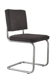 Krzesło Ridge Rib w kolorze szarym  Materiał: Obicie krzesła wykonane z tkaniny,88% nylon, 12% poliester Rama krzesła - chrom szczotkowany...