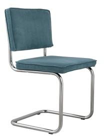 Krzesło Ridge Rib w kolorze niebieskim  Materiał: Obicie krzesła wykonane z tkaniny,88% nylon, 12% poliester Rama krzesła - chrom szczotkowany...