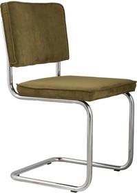 Krzesło Ridge Rib w kolorze zielonym  Materiał: Obicie krzesła wykonane z tkaniny,88% nylon, 12% poliester Rama krzesła - chrom szczotkowany...
