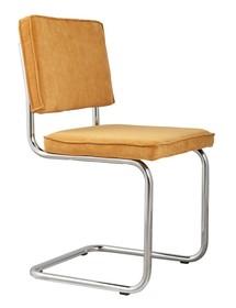 Krzesło Ridge Rib w kolorze żółtym  Materiał: Obicie krzesła wykonane z tkaniny,88% nylon, 12% poliester Rama krzesła - chrom szczotkowany...