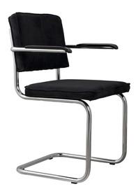 Fotel Ridge Rib w kolorze czarnym  Materiał: Obicie krzesła wykonane ze sztruksu: 88% nylon, 12% polyester. Rama krzesła chromowana z połyskiem....