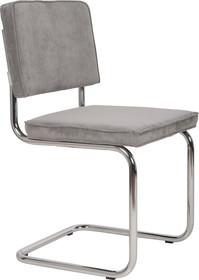 Krzesło Ridge Rib w kolorze jasnej szarości  Materiał: Obicie krzesła wykonane z tkaniny,88% nylon, 12% poliester Rama krzesła - chrom...