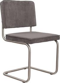 Krzesło Ridge Rib w kolorze szarym  Materiał: Obicie krzesła wykonane ze sztruksu: 88% nylon, 12% polyester. Rama krzesła - stal...