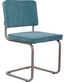Krzesło Ridge Rib w kolorze niebieskim  Materiał: Obicie krzesła wykonane ze sztruksu: 88% nylon, 12% polyester. Rama krzesła - stal...