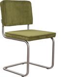 Krzesło Ridge Rib w kolorze zielonym  Materiał: Obicie krzesła wykonane ze sztruksu: 88% nylon, 12% polyester. Rama krzesła - stal...