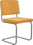 Krzesło Ridge Rib w kolorze żółtym  Materiał: Obicie krzesła wykonane ze sztruksu: 88% nylon, 12% polyester. Rama krzesła - stal...
