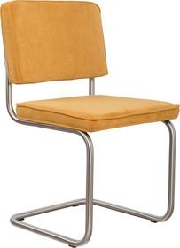Krzesło RIDGE BRUSHED RIB - żółte 24A
