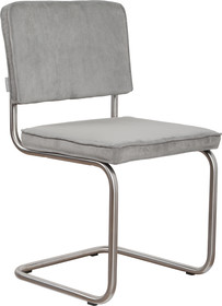 Krzesło Ridge Rib w kolorze jasnej szarości  Materiał: Obicie krzesła wykonane ze sztruksu: 88% nylon, 12% polyester. Rama krzesła - stal...