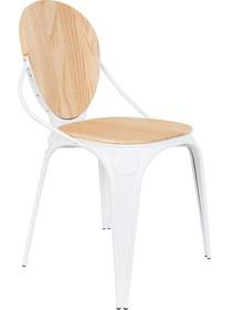 Krzesło LOUIX - naturalna biel