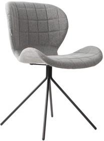 Krzesło OMG w kolorze jasnoszarym marki Zuvier  Materiał: Siedzenie i oparcie krzesła wykonane ze sklejki. Pokryte miękkim materiałem i tkaniną z...
