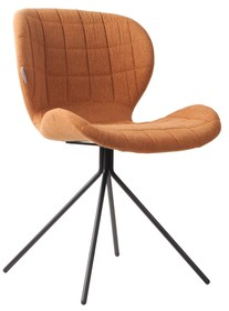 Krzesło OMG marki Zuiver w kolorze karmelowym.  Materiał: Siedzenie i oparcie krzesła wykonane ze sklejki. Pokryte miękkim materiałem i tkaniną...